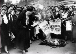 Manifestation pour le droit de vote des femmes